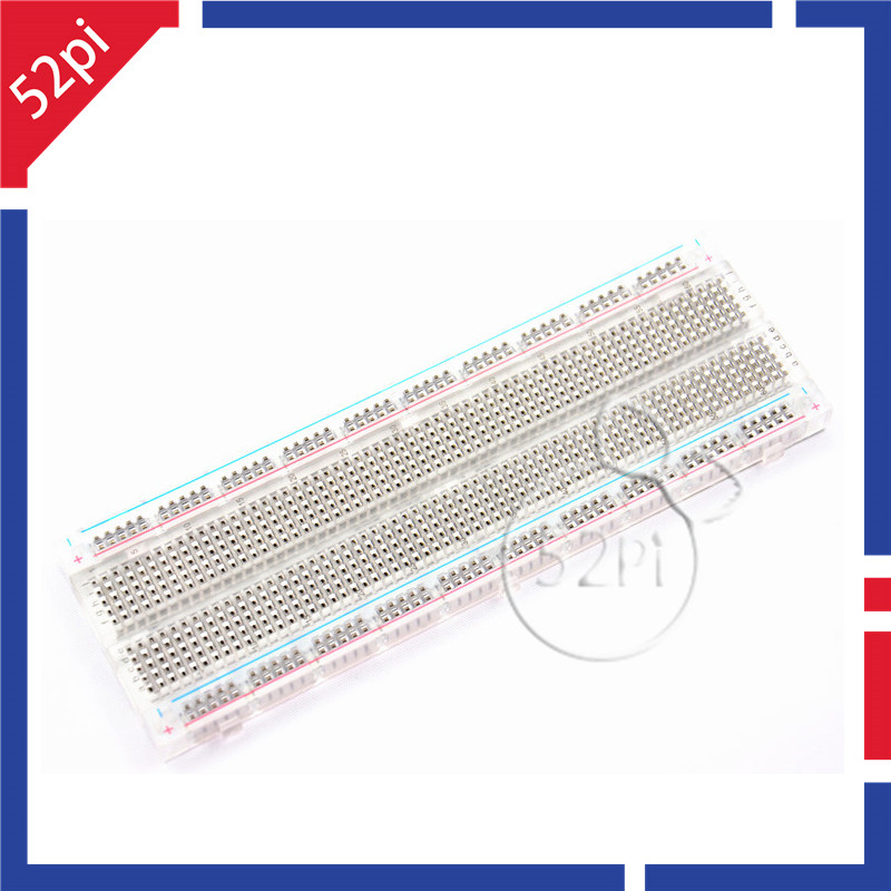 MB-102 Transparent Material 830Point Solderless PCB Bread Board Test Develop DIY