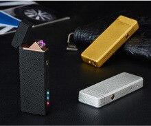 Плазменный прикуриватель USB для курения электронный перезаряжаемый WilndProof может лазерный логотип сигарет зажигалка