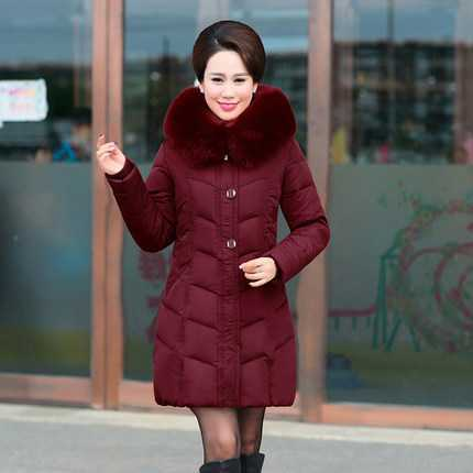 Winter Parkas Women New Design Mother Big Fur Hooded Thicken Warm Coats Female Slim Cotton Padded Long Outerwear A4397 women parkas 2016 fashion ladies big fur hooded slim thicken outerwear winter coats women cotton padded warm overcoat a4507