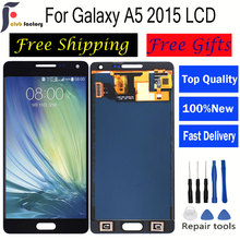 лучшая цена With Digitizer lcd A5 2015 display A500F LCDfor SAMSUNG Galaxy A5 2015 LCD A500 A500F A500M A500Y a500fu Display Touch Screen