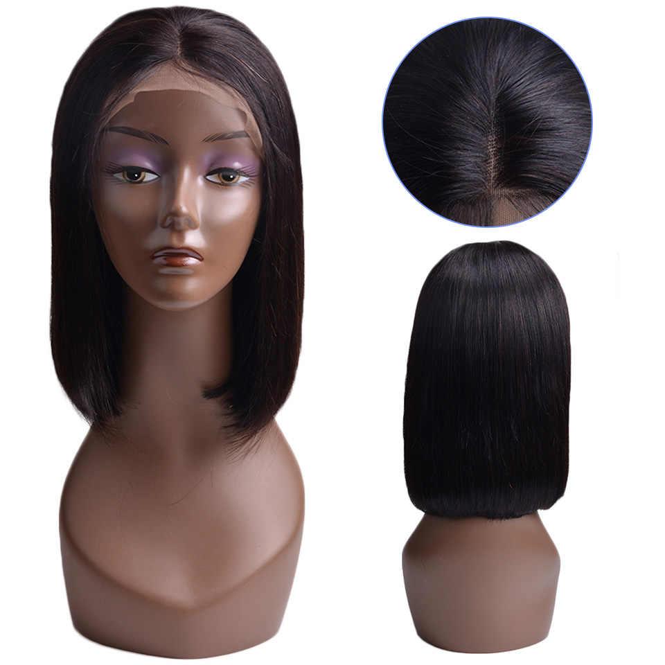 Боб Синтетические волосы на кружеве парики с волосами младенца бразильские причёска Боб с прямыми волосами парики для чернокожих Для женщин OYM человеческие волосы Синтетические волосы на кружеве al парики