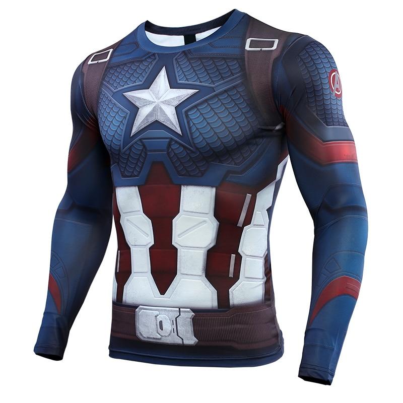 Avengers Captain USA Long Sleeves T-shirt Cosplay