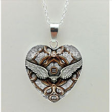 2017 New Mechanical Gear Heart Necklace Steampunk Clock Heat Jewelry Silver Heart Shaped Necklaces