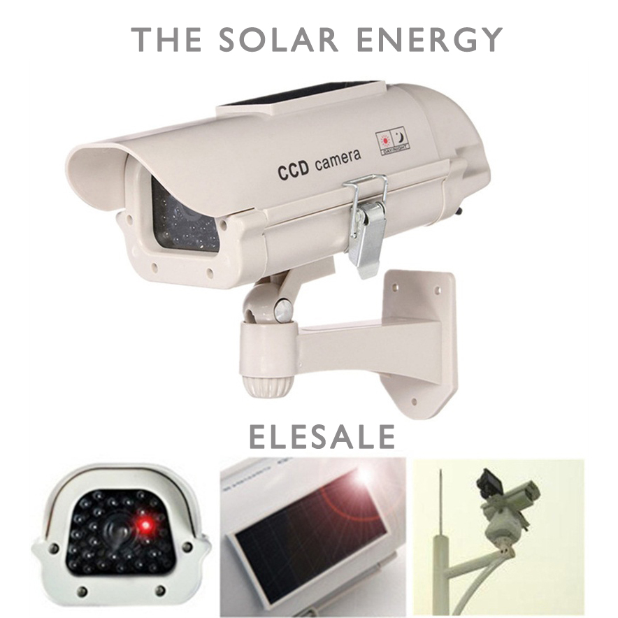 The solar energy Waterproof Fake Camera Two AA Battery LED Dummy Security Camera Ir Led Dome Camera Surveillance Camera solar energy modelling and assessing photovoltaic energy