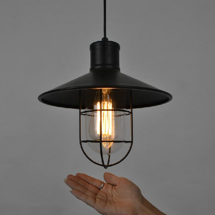 Nordic American country style restaurant aisle hotel cafe bar lighting industry retro warehouse Birdcage Chandelier lamps light