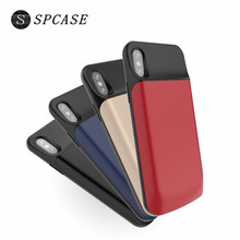SPCASE 3600 6000 mAh External Magnetic Battery Charger Case Power Bank For iphone X Portable Backup
