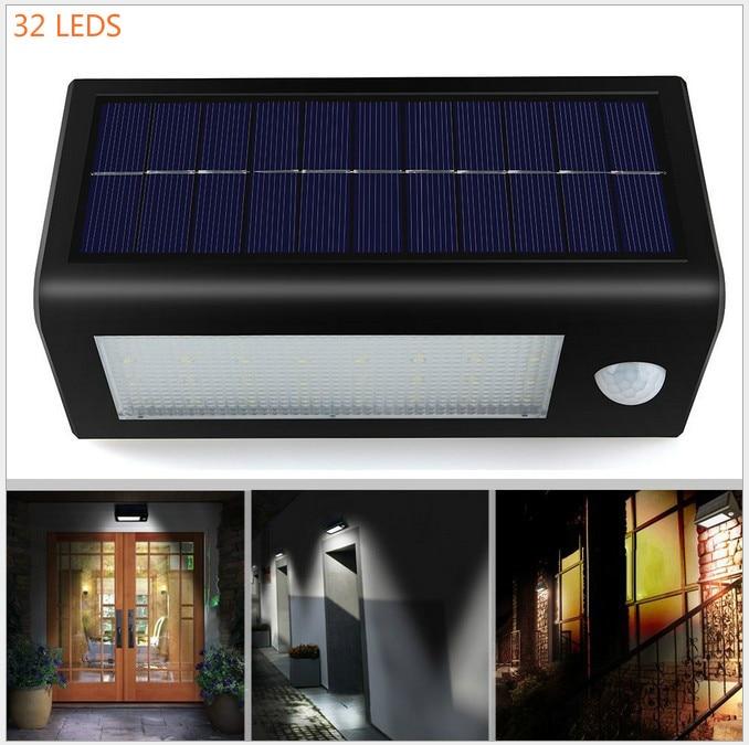 ФОТО 500LM Motion 32 LED Sensor Garden Street Light IP65 Waterproof outdoor garden lampada solar garden lamp wall sconce