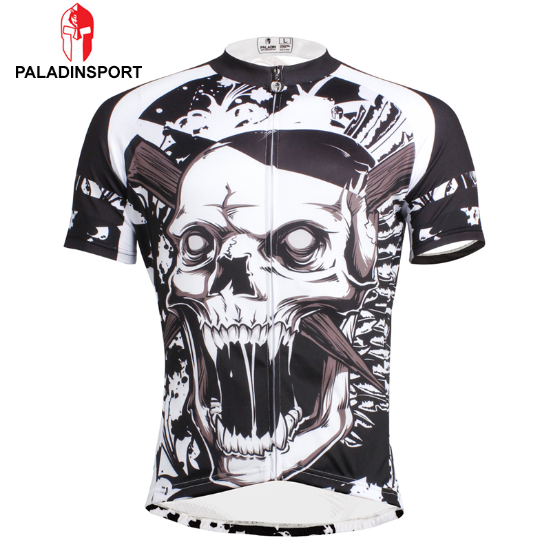 Prix pour Paladin offre spéciale hommes crâne style maillot quick dry ropa ciclismo vélo clothing vélo maillot ciclismo sport