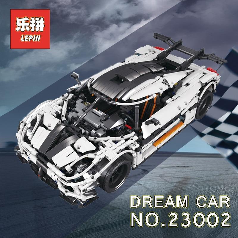 Lepin Technique 20001 voiture de course Ensemble 20086 23006 23002 Modèle blocs de construction Briques Compatible Legoing Technique 42056 d'anniversaire Jouets - 4