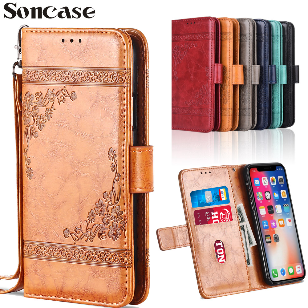 Vintage Flip Wallet <font><b>Leather</b></font> <font><b>Case</b></font> <font><b>Redmi</b></font> 7 5 6 <font><b>6A</b></font> Go <font><b>Redmi</b></font> Note 3 4 4x 5 6 5A 7 Pro <font><b>Case</b></font> Capa TPU <font><b>Phone</b></font> Bag For <font><b>xiaomi</b></font> mi 5 8 9 SE image