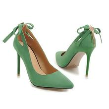YANSHENGXIN Red Stiletto Wedding Bride Shoes Woman Pumps Ladies Scarpin Women High Heels Pointed Toe Back Bowtie Party