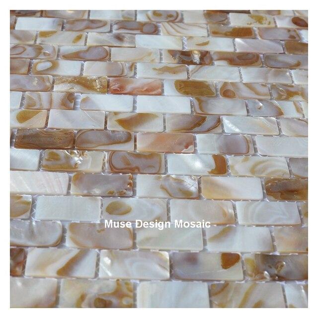 Mosaico delle coperture MOP naturale colorato cucina backsplash ...