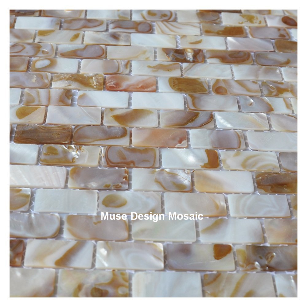 . US  19 99  shell mosaic MOP natural colorful kitchen backsplash wallpaper  tile bathroom background shower decorative wall tiles in Wallpapers from