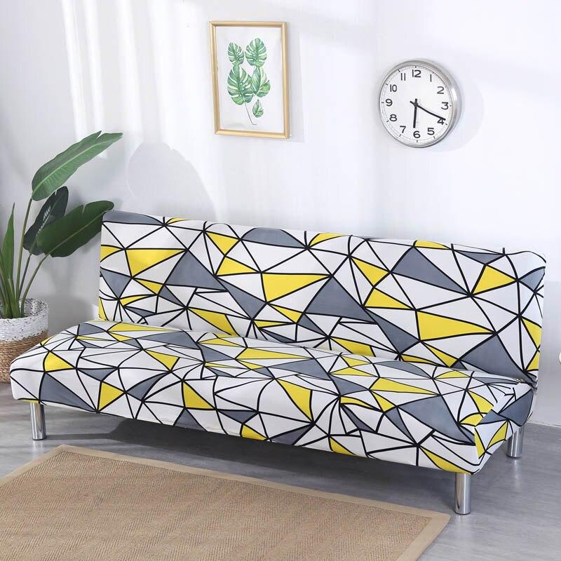 Géométrique Impression Canapé Lit Couverture Tout compris Wrap Pliage Canapé Cas Canapé Longueur Sans Accoudoir Entre 165 cm à 185 cm