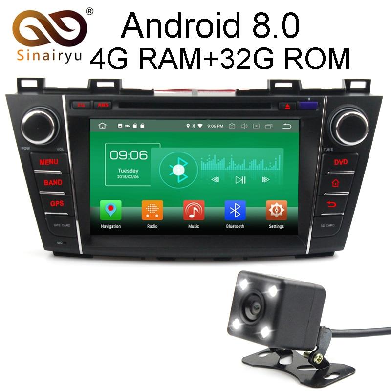 Sinairyu 4 г Оперативная память Android 8.0 автомобиль DVD для Mazda 5 Premacy 2007 2008 2017 2010-2013 Octa core 32 г Встроенная память Радио GPS плеер головное устройство