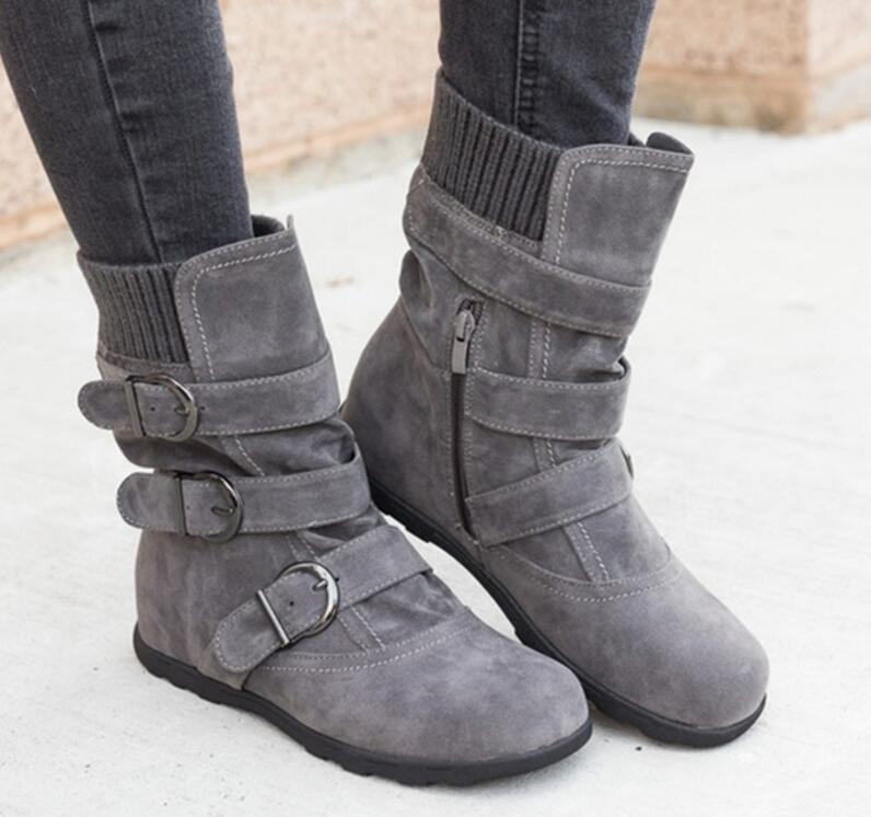 a3bcac8bfe54 Women Buckle Strap Platform Ankle Boots (Extra Buy 2 Got 5% Off