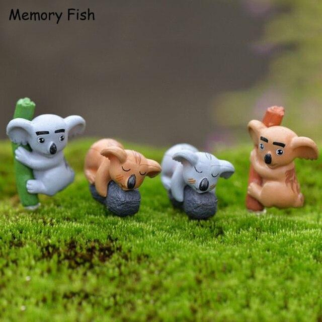 Mini Lustige Nette Koala Action Figuren Micro Garten Dekoration