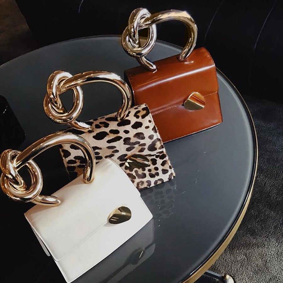Casual Metal Handle Handbags Women Messenger Bag 2019 Brands Chains Shoulder Crossbody Bags Ladies Clutch Bag Purses Bolsa Chic