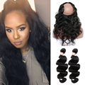 360 Lace Frontal With Bundle CARA Virgin Hair With Lace Closure Body Wave 360 Lace Frontal With Bundle Pre Plucked Indian Hair
