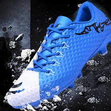 Men's Sneakers Futsal 2018 New Football Shoes Brand Outdoor Non-slip Chuteira Futebol Training Soccer Shoes AG Low Adult Zapatos