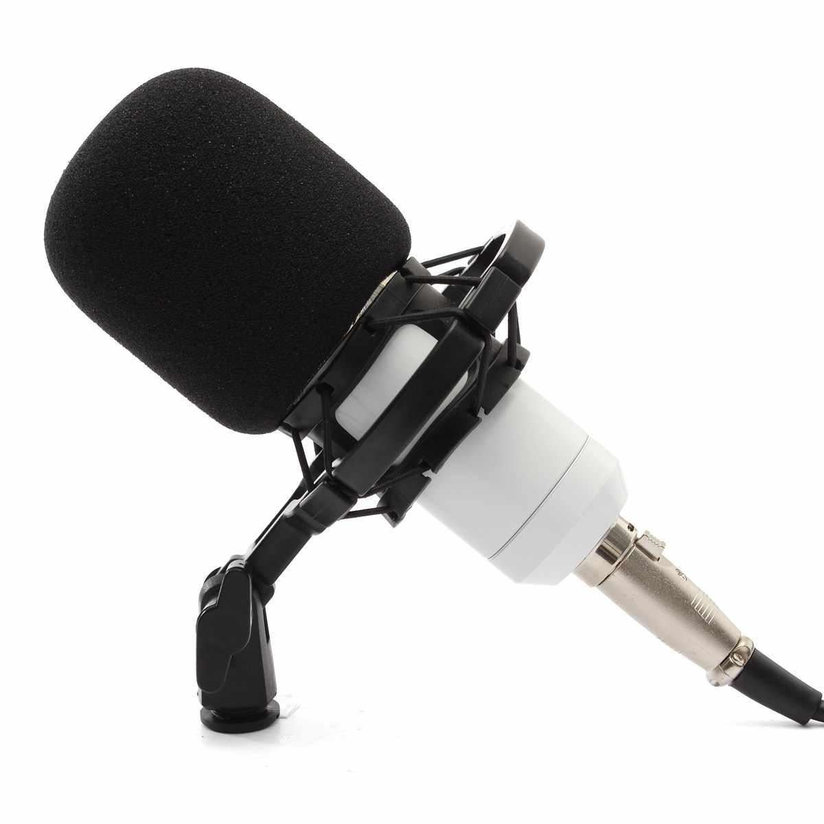 LEORY BM-800 конденсаторный микрофон Компьютер профессиональный микрофон 3,5 мм кабель микрофон с ударным креплением для караоке записывающее устройство