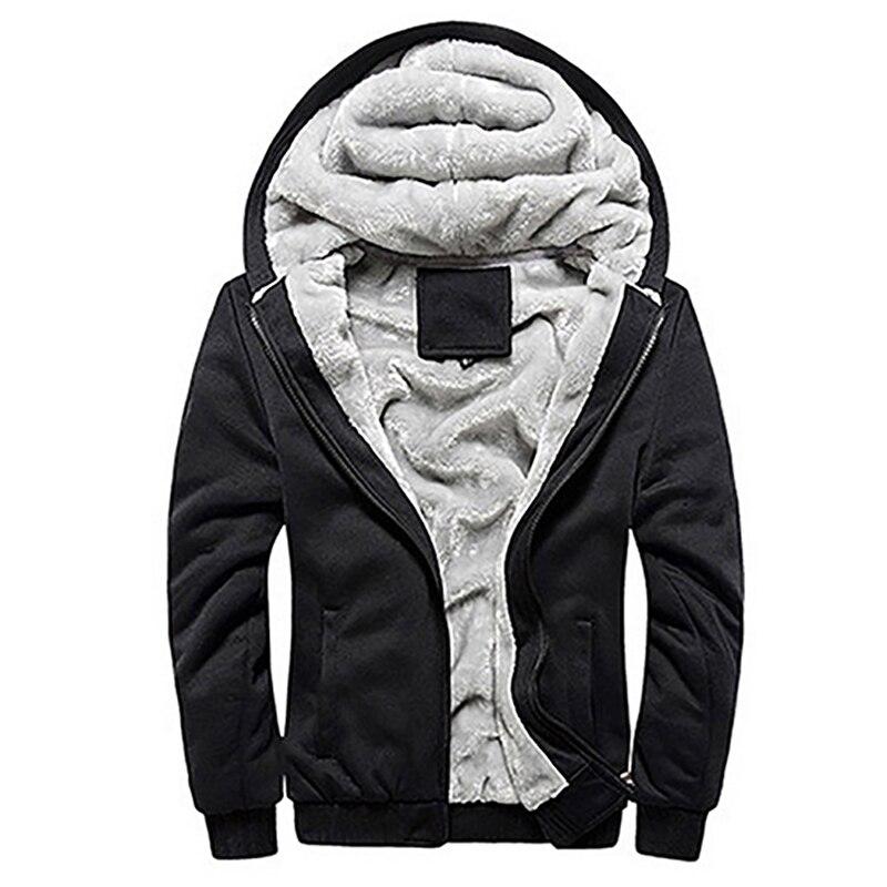 Для мужчин модные зимние толстое хлопковое Пальто повседневные толстовки куртки и пиджаки
