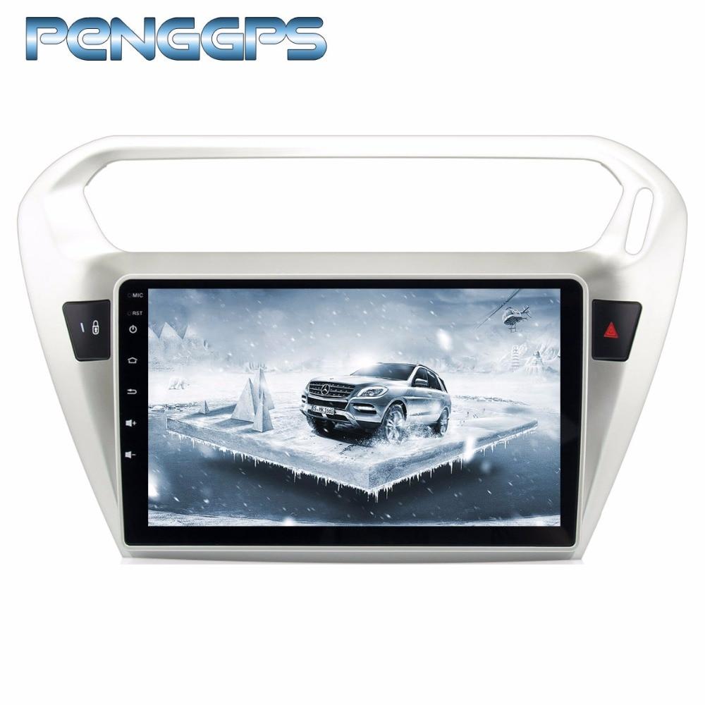 Octa Core 2 Din Lettore DVD Android 8.0 Radiofonico Auto per Peugeot 301 2014-2017 per Citroen Elysee 2014 -2017 di Navigazione GPS Unità Principale