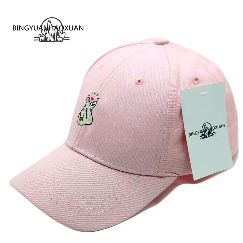 BINGYUANHAOXUAN 2017 New Cap Gorras Harajuku Style Ring Finger Love Snapback Male Bone Baseball Cap Fashion Cap Hat Hip Hop Hats adjustable la baseball cap men women snapback cap hat female male hip hop bone cap black cool fashion gorras letter cotton cap