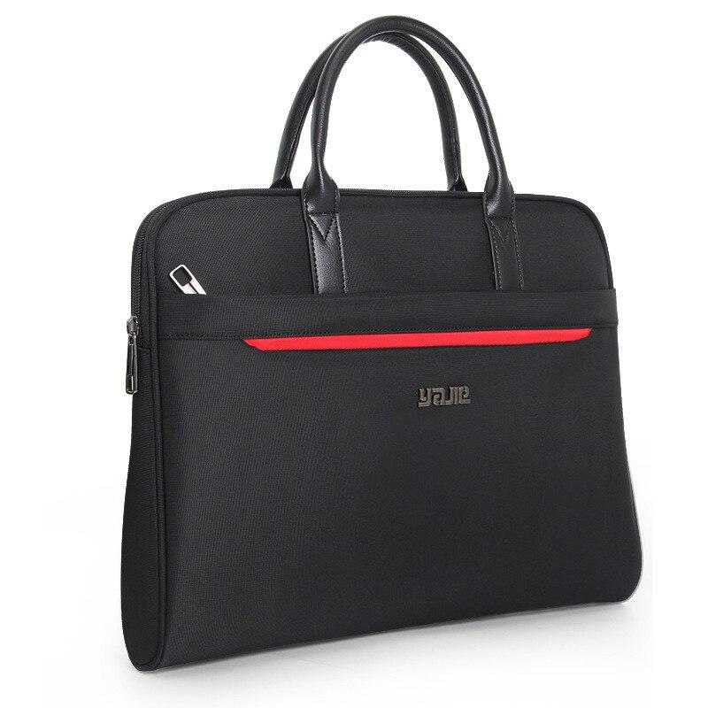 Portable Document Bag Canvas Office Zipper Bag Large Capacity Men Women Handbag Multi-layer Information Bag Briefcase Meeting