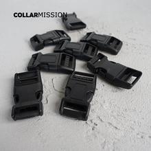 Buckle Quick-Release Garments Webbing Dog-Collar Diy-Accessory 20mm-Straps Plastic Custom