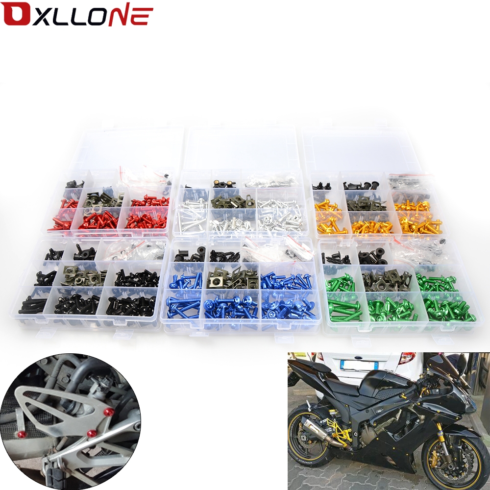 GHMotor Complete Fairing Bolts Fasteners Screws Kit Set MADE IN USA for 2002 2003 2004 2005 KAWASAKI ZZR1200 ZX-12C All Black