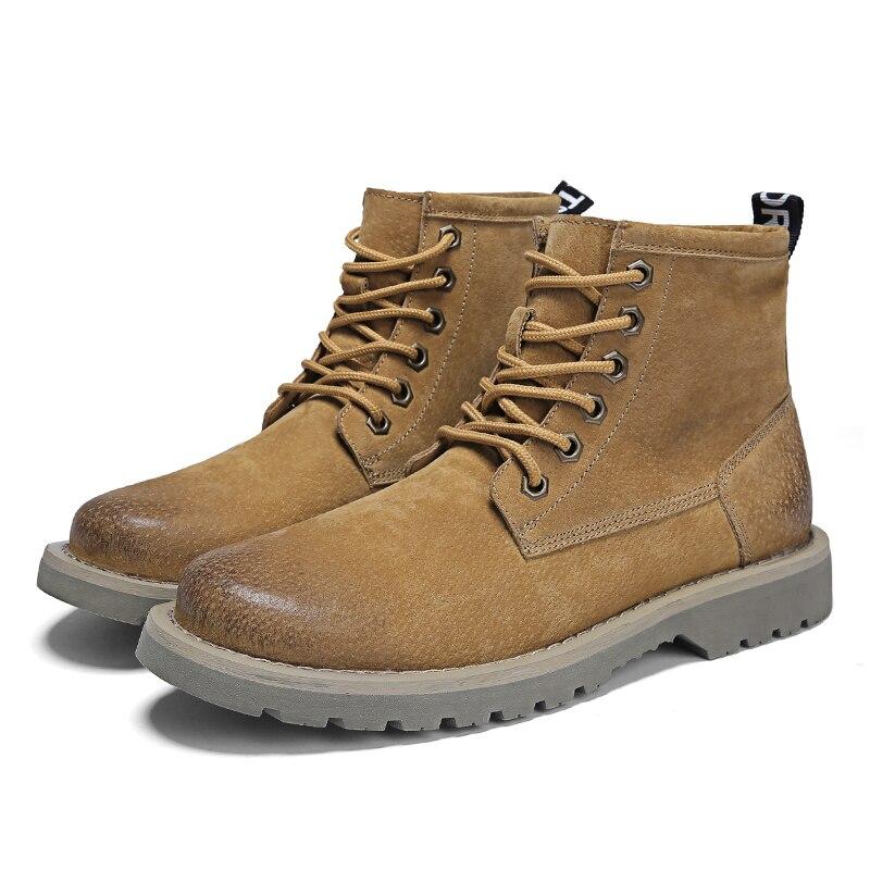 2018 Dr Vintage militaire Martin bottes hommes en cuir véritable moto chaussures hommes bois travail hiver Oxfords chaussure Zapatos Hombre