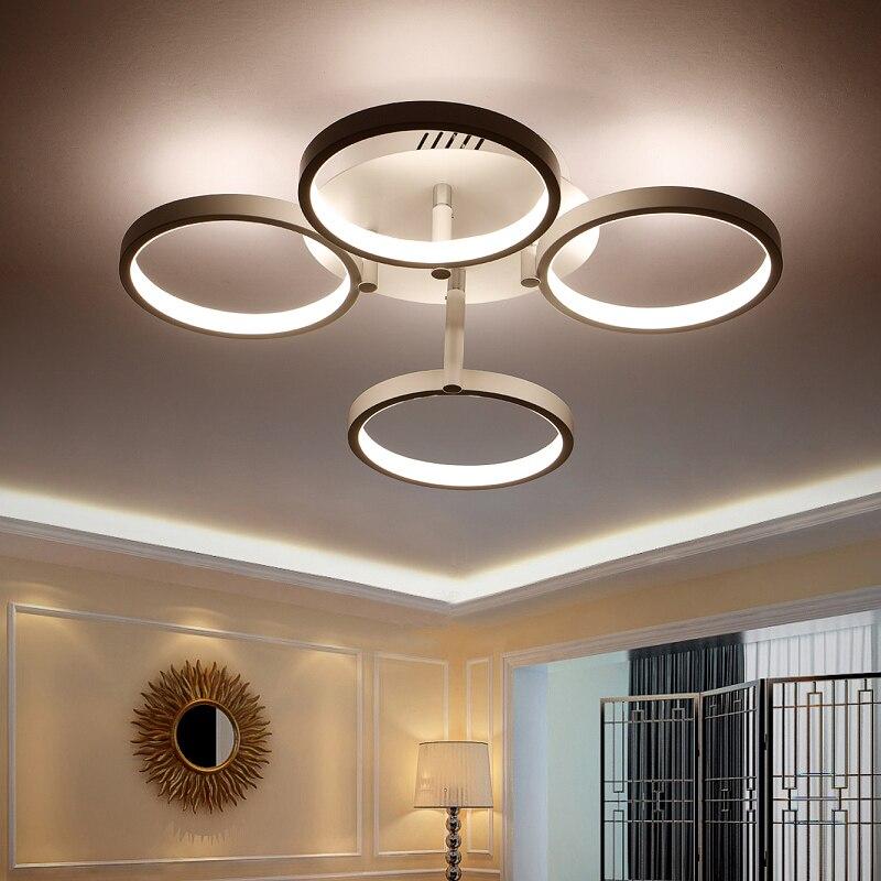 New Arrival Circle rings designer Modern led ceiling lights lamp for living room bedroom Remote control ceiling lamp fixtures in Ceiling Lights from Lights Lighting