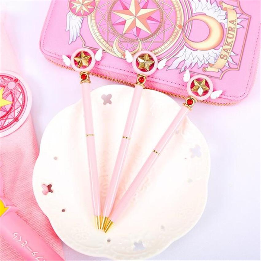 Anime Star Popular Anime Card Captor Cardcaptor Sakura Star Key Ballpoint Ball Pen Ballpen School Stationery A640