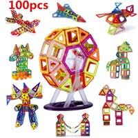 100PCS Magnetic Building Blocks Construction Toys For Kid Designer Magnetic Toys Magnet Model Building Toys Enlighten