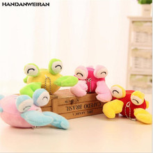 NEW 1PCS 8.5cm approx creative lobster doll 4-colors Small plush toy pendant small gift Ragdoll kids toys Wedding