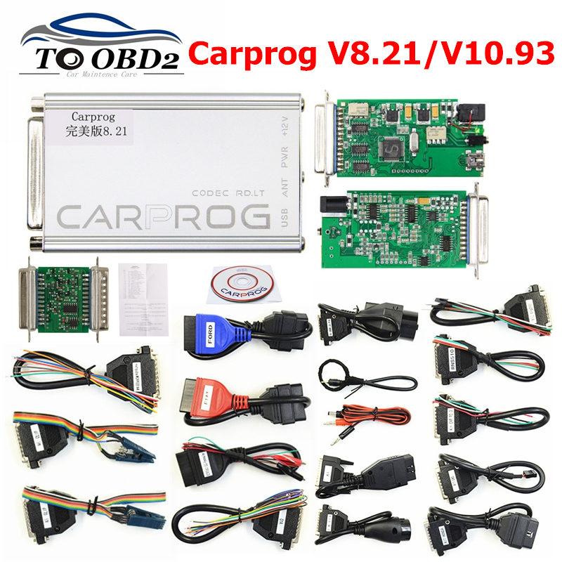 Perfect Online Version CARPROG V8.21 Add More Authorization With Keygen Car Prog V10.93 V10.05 V8.21 Auto ECU Repair Tool