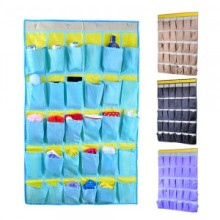 30cases  mobile phone hanging bag dormitory classroom wall storage bag multilayer bag door wall hanging pocket 90*54cm