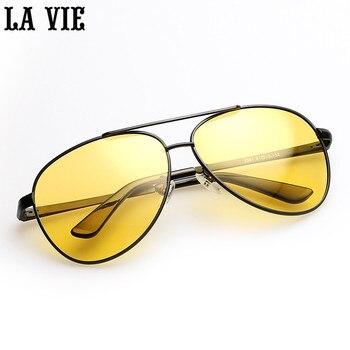 db95272bd6 Vison De Noche De los hombres De aleación 100% gafas De Sol polarizadas  reducir el deslumbramiento De conducción De Sol cristal Cool Vintage  piloto, gafas, ...