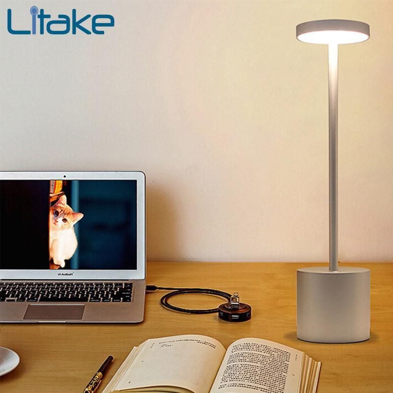 In QualitäT Flexible 14 Leds Schreibtisch Lampe Usb Lade Lesen Lichter Touch Sensor Dimmbare Lesen Studie 3 Modus Weiß Nacht Licht Tisch Lampen üBerlegene