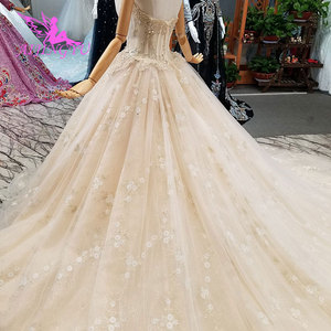 Image 5 - AIJINGYU engagement The Bride Dresses Gothic Wedding Korean Store Real Photo Belarus For Sale Gown Outlet White New Gown