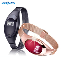 Женские смарт-браслет Z18 Bluetooth браслет крови Давление Кислорода Монитор сердечного ритма Водонепроницаемый шагомер для IOS Android