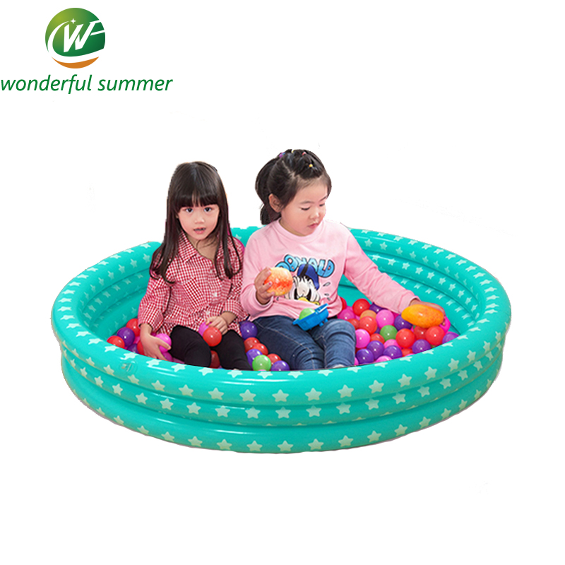 96*20cm Giant Inflatable Swimming Pool For Children and Baby Ocean Ball Paddling Pool Start Print Three Layers Fishing Pool