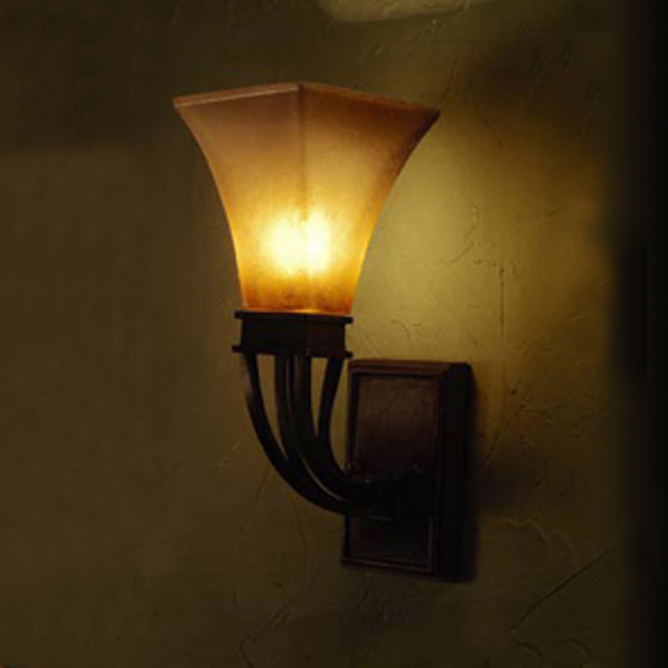 American retro big wall long rod wall antique rural staircase aisle lamp wall lamp post project Retro Wall lights FG289
