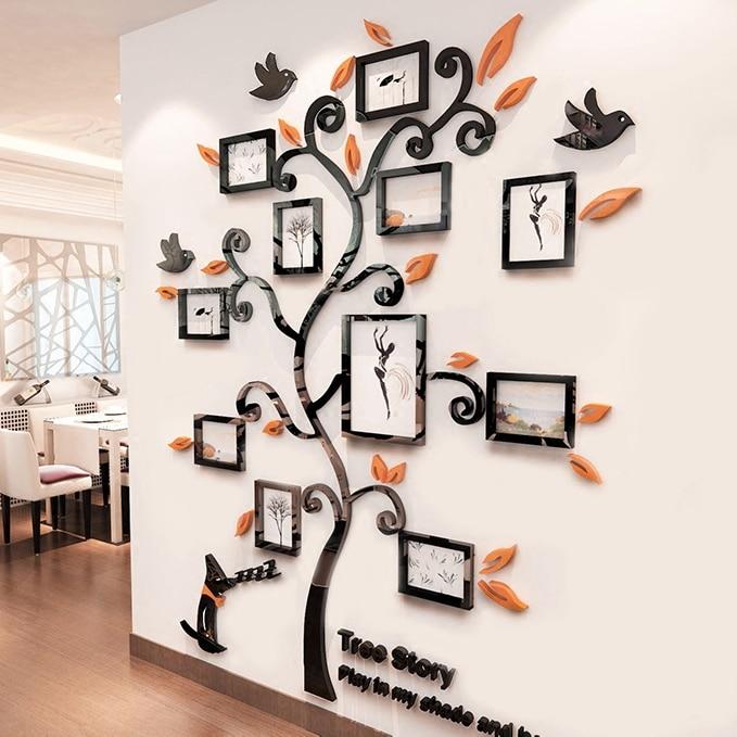 Akrilo nuotraukų rėmelių siena Šeimos medžio lipdukai 3D - Namų dekoras - Nuotrauka 3