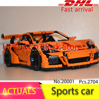 LEPIN 20001 Technic Series 3368 Race Car Bricks LegoINGl 42056 Model Building Kits Blocks Toys For