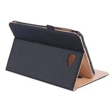 Premium PU Leather Case Smart Cover for Samsung Galaxy Tab A A6 10.1 Case T580 T585 T587 with Hand Strap Cases+Card Slots Pocket pu leather case stand cover for samsung galaxy tab a a6 10 1 2016 t580 sm t585 t580n cases cover with hand holder card slots