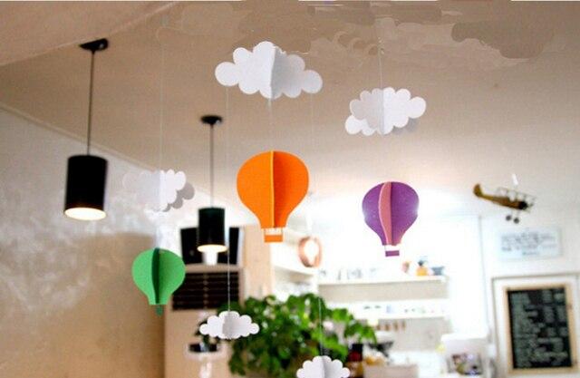3D Kinder Spielen Zelt Dekoration Zelt Requisiten Spielzeug Wolke Heißer  Air Ballon Baby Bett Zimmer Hängen