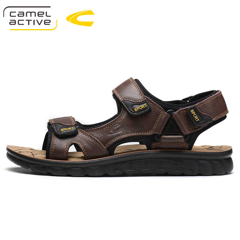 e92733f7c Camel Active Hook   Loop mens sandals genuine leather sandals outdoor  casual shoes men leather sandals