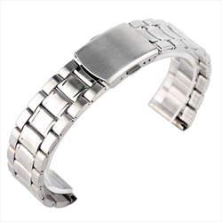 Наручные часы из металла Браслеты Для мужчин высокое качество Нержавеющаясталь 18 мм 20 мм Ремешки для наручных часов модные женские туфли